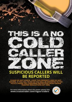 Trust a Trader: Anti Cold Caller Poster by trustatrader