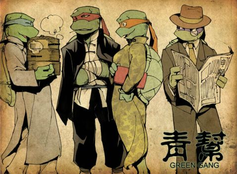 Green Gang 01 by Rcaptain