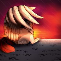 Here comes the rain by skywolffang
