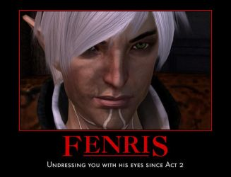 Dragon Age 2: Fenris' Bedroom Eyes Poster by ParisWriter