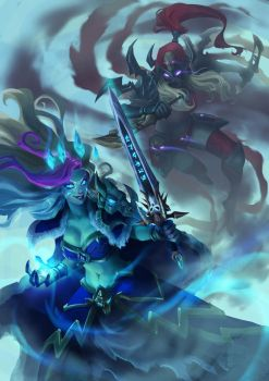 Frost Lich Jaina vs Valeera The Hollow by Mkuchima