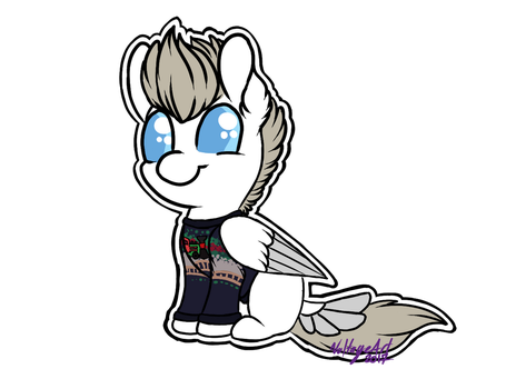 Zane in ugly Christmas sweater. by Voltage-Art