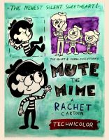Mute The Mime Vintage Poster by rachetcartoons