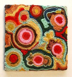 Abstract Yarn Art Painting by Madizzo
