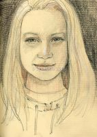 Portrait of a young girl by Leochi