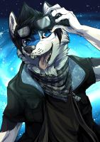 Commission26 Spacedog! by ChershireHatter