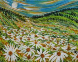 God's Spill Of Daisies by juliarita
