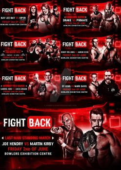 WCPW Fight Back Official Match Card graphics by Ahmed-Fahmy