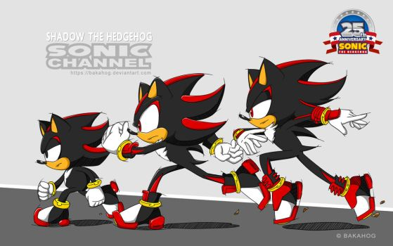 [Shadow The Hedgehog] Sonic Channel Style by Bakahog