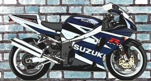Gsxr on the wall by gixgeek