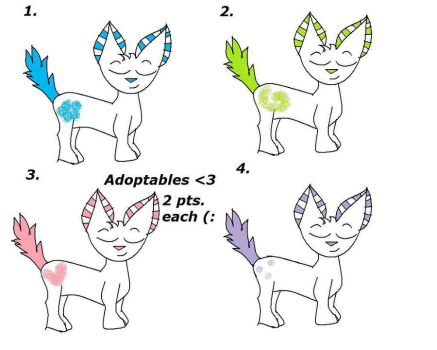 Adoptables 2 points each by Awesome1168eerz