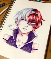 Shouto Todoroki by Brookestar4