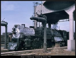 Steam in Galesburg by classictrains