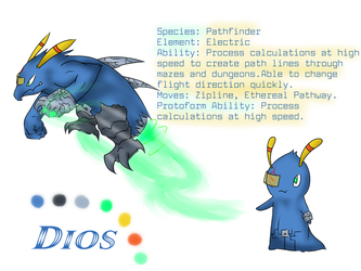 OC Slug - Dios (Ref Sheet) by Drazugan