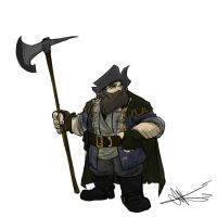 Commission: Dwarf Pirate Hunter by Skyserpent