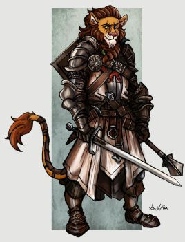 Lion Knight by TheLivingShadow