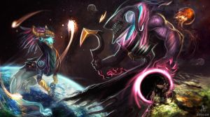 A Cosmic Battle by Aths-Art