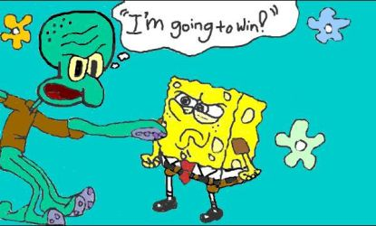 Squidward + Spongebob by MissFlorah