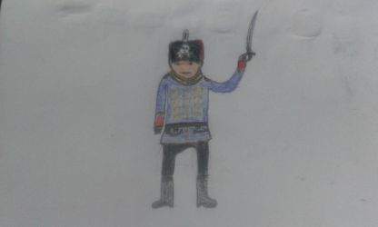 My Drawing Of The Prussian Hussar by spencerbt123