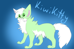 kiwikitty flat colour + background commission by caramellique