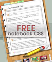 'The Notebook' Free CSS by spud100