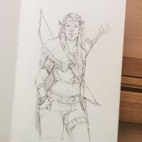 Wood Elf Sketch 7/10/17 by ZaraAlfonso