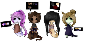 {1/4 OPEN} Ghost and Kemonomimi Adopts {30 points} by Ask--GamingPrincess