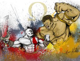 God Of War: Kratos vs Hercules by smthcrim89