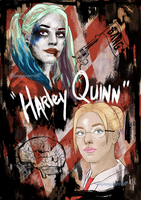 Harley Quinn - Before/After - Margot Robbie by DannyJarratt