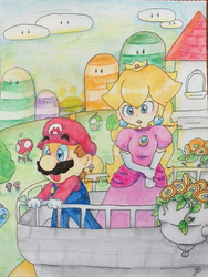 Mushroom Kingdom in the Morning by TemmieSkyie