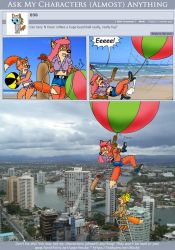 Ask My Characters - Huge Beach Ball by micke-m