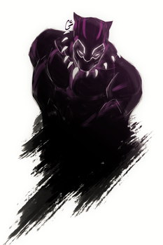 Black Panther by GinaCookies