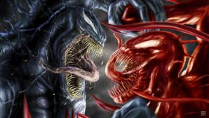 VENOM V CARNAGE wp1 by disent by DISENT