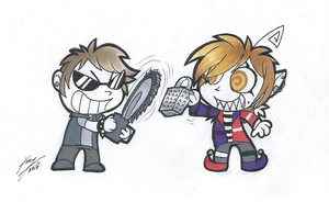 Chainsaw vs Cheese Grater by RetroRodent