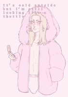 a hoe never gets cold. by CatsShouldWearSocks