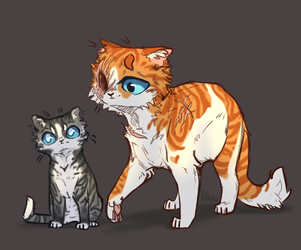 Brightheart and Jaypaw by GrayPillow