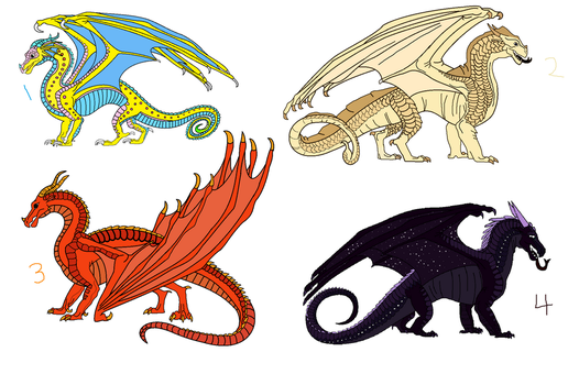 Wings of fire adopts ALL CLOSED by GamerCupcake100