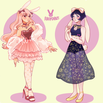 BUNNIES ADOPTABLES AUCTION [OPEN] by Moo-fie