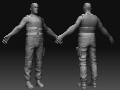 Game Character Soldier 01 by KonstantinL