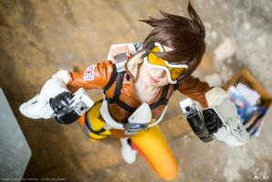 Tracer from Overwatch- Cheers Love! by KUMIcosplay