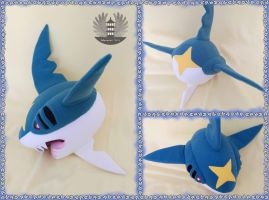 Sharpedo plush by ArtesaniasIris