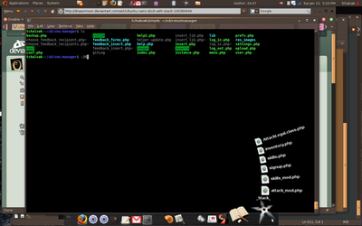 Ubuntu cairo-dock with stack by dnaexmosn