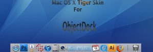 Mac OS X Tiger Skin ObjectDock by djtransformer01