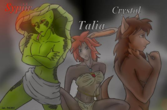 Sypiir, Talia and Crystal by KikiLing