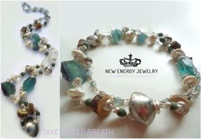 TAKE A DEEP BREATH crystal energy necklace by NEWENERGYJEWELRY