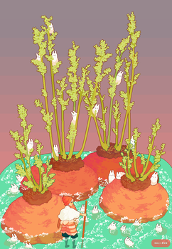 Carrot tops by Hali-bun