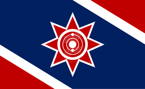 Sci-Fi: Union of Aligned Worlds Flag (Revised) by Leovinas