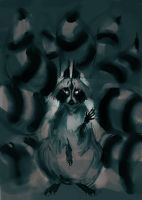 Nine-tailed-racoon by ViridRain