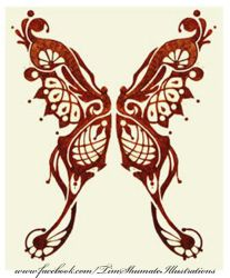 Nouve Butterfly tattoo by telegrafixs