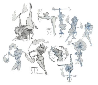 Dance sketches. by Sally-Avernier